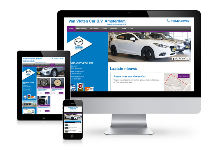 website mazda van Vloten Car